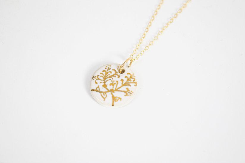 """Honeysuckle"" | June Birth Flower, Anniversary, Special Occasion Necklace"