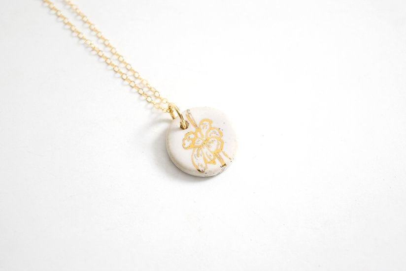 """""""Daffodil""""   March Birth Flower, Anniversary, Special Occasion Necklace"""