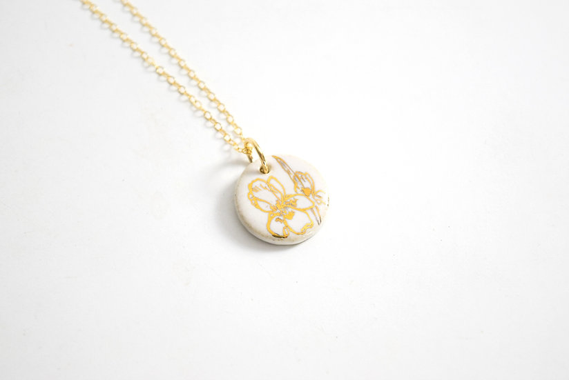 """""""Iris""""   February Birth Flower, Anniversary, Special Occasion Necklace"""