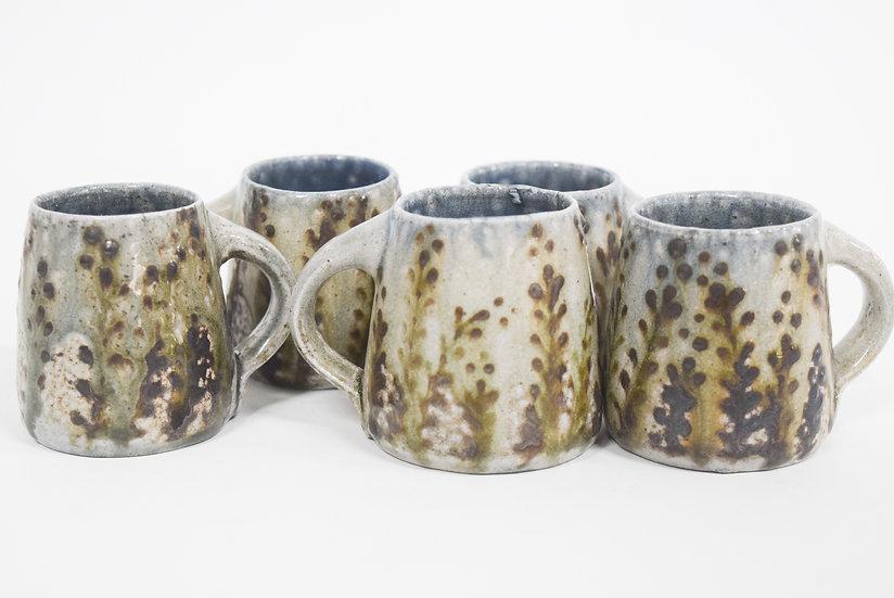Espresso Cup   Crisp Brown Floral