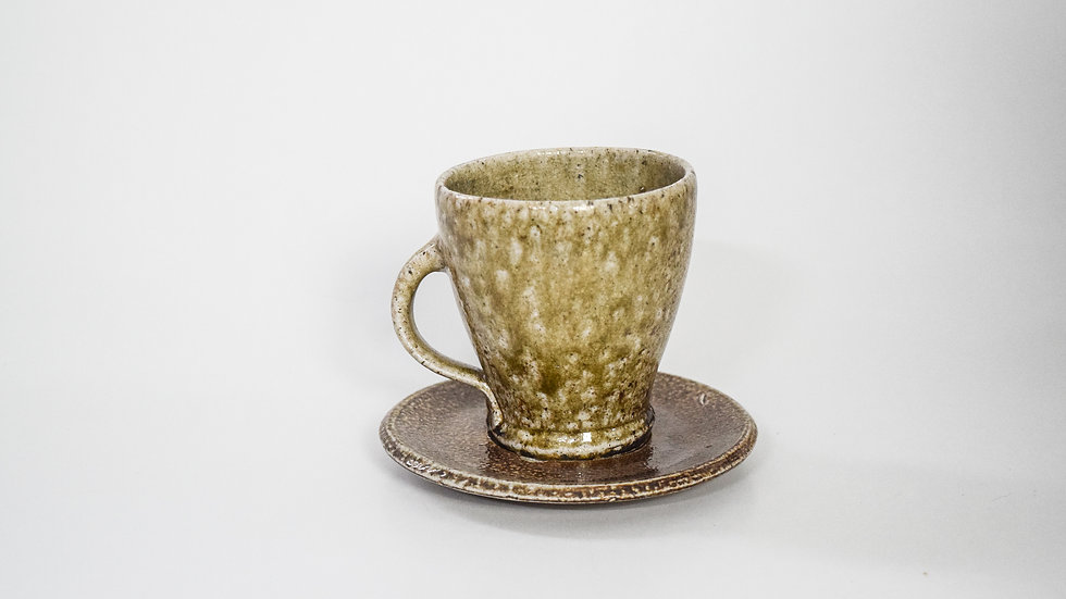 Wood Fired Salt Glazed Tea Cup, Toasty Salt Glaze