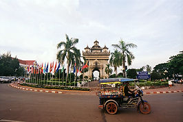 Patuxai, the Victory Gate, Vientiane, Laos.