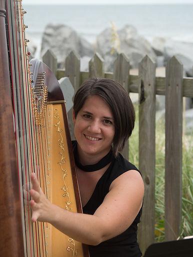 Christina Brier harpist Wilmigton, North Carolina