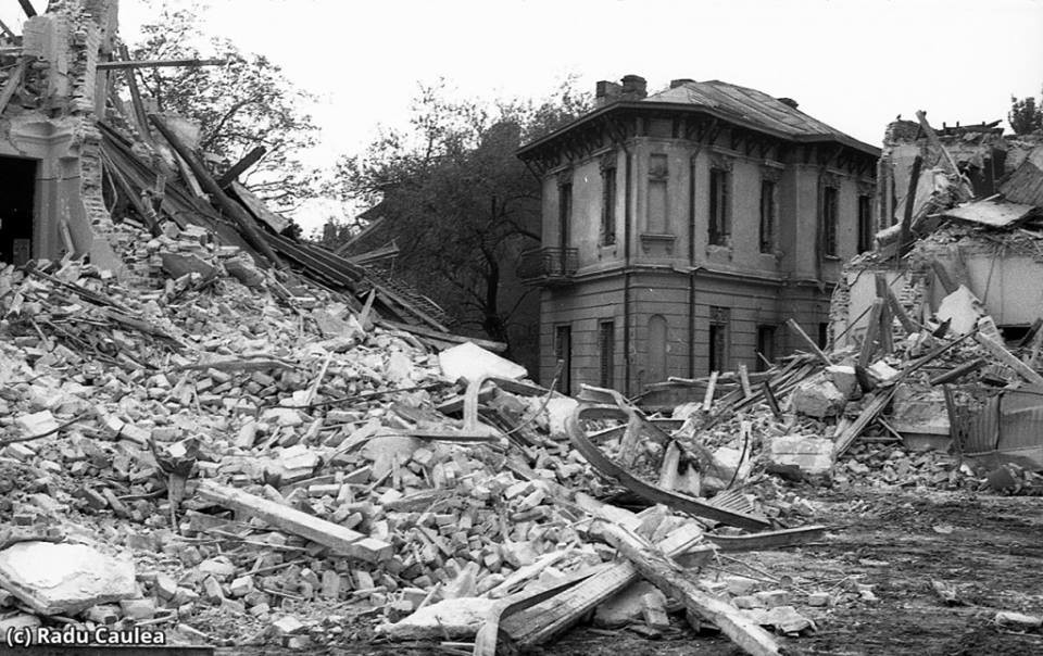 Forced demolition of central Bucharest during Ceausescu's regime