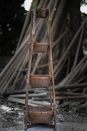 ชั้นวางของไม้ไผ่, Shelve from bamboo