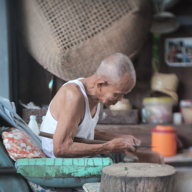 Oldman with their daily work