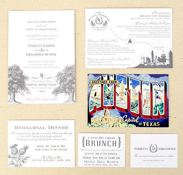 austin custom invitations and austin wedding invitations - Wedding Invitations Austin Tx