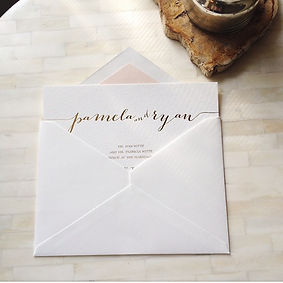 simple and pretty invitation