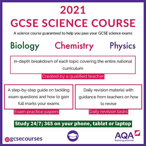 GCSE AQA SCIENCE COURSE (COMPLETE)