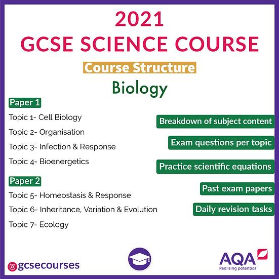GCSE AQA BIOLOGY COURSE