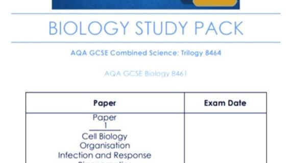 GCSE AQA BIOLOGY Study Pack