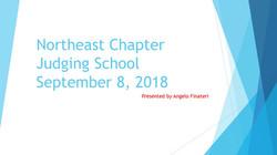 Northeast Chapter Judging School 2018