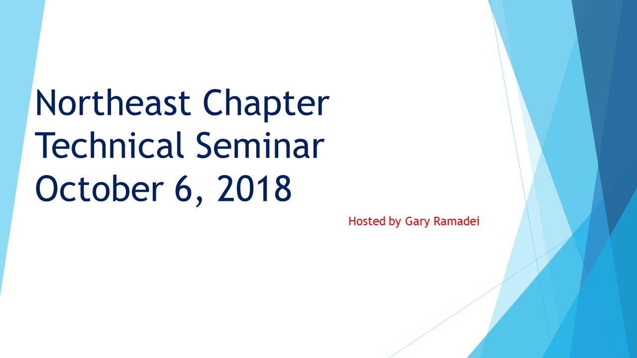 Northeast Chapter Technial Seminar Title