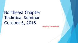 Northeast Chapter Technial Seminar Title