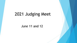 June 2021 Judging Meet title page