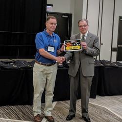 Rob receiving 2018 Flight Award at Natio
