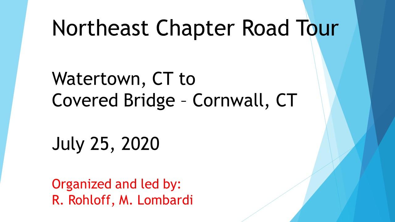 Road Tour  2020 Title Page
