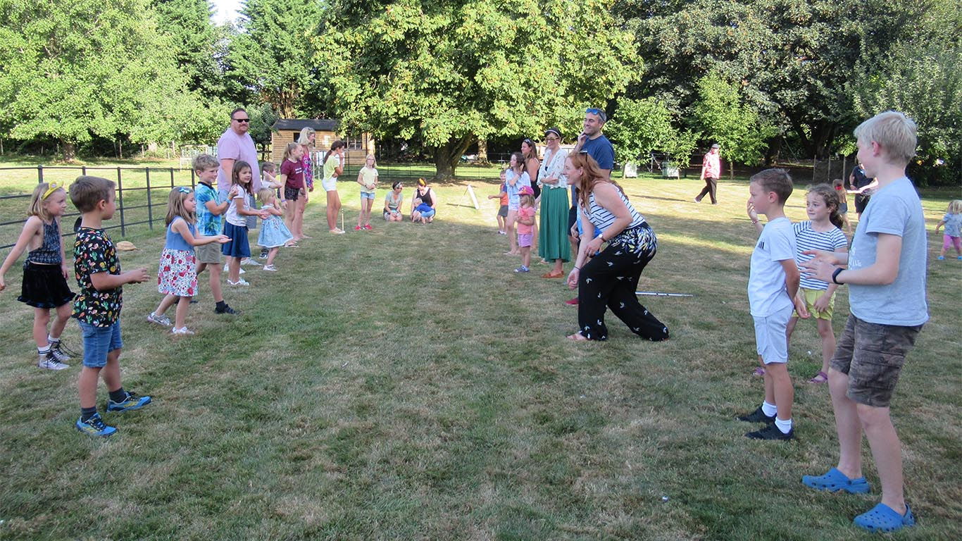 World famous egg catching competition