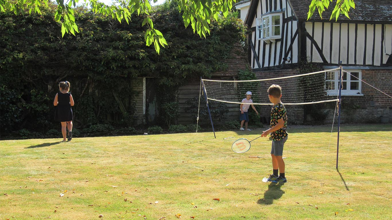 Games in the beautiful gardens