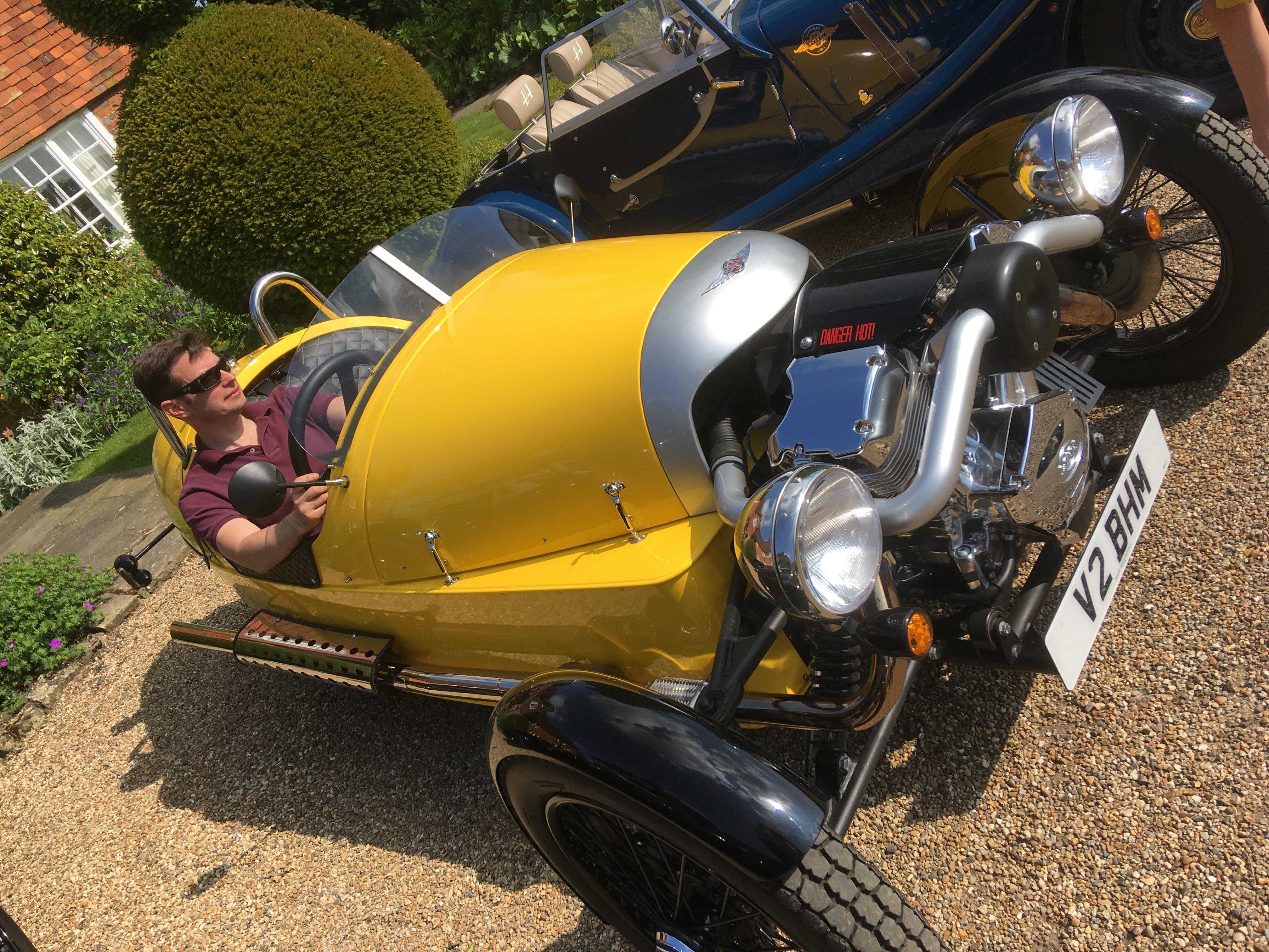 Chris in 3 wheeler