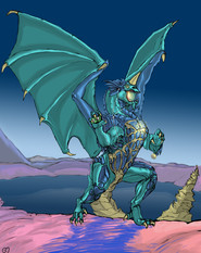 Modern Blue Dragon
