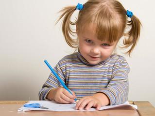 Упражнения для красивого почерка с малышами от 1 года