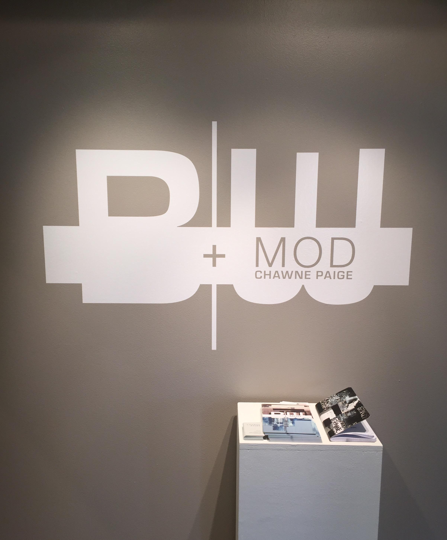 B|W+MOD - Title wall