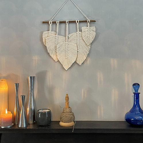 Macramé5 Feather Wall Hanging Kit
