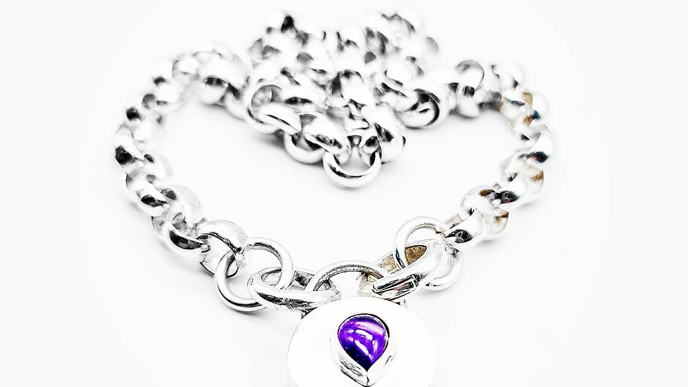 Chunky belcher chain with locket clasp
