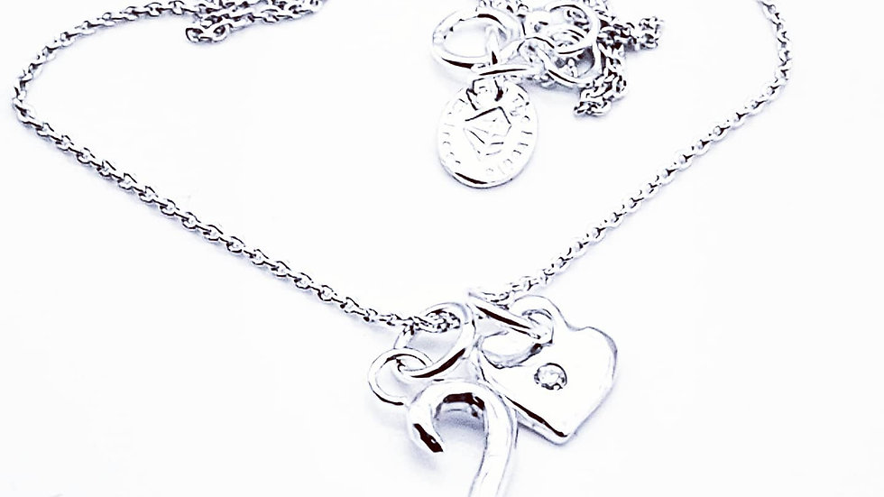 Hand made initial necklace in sterling silver
