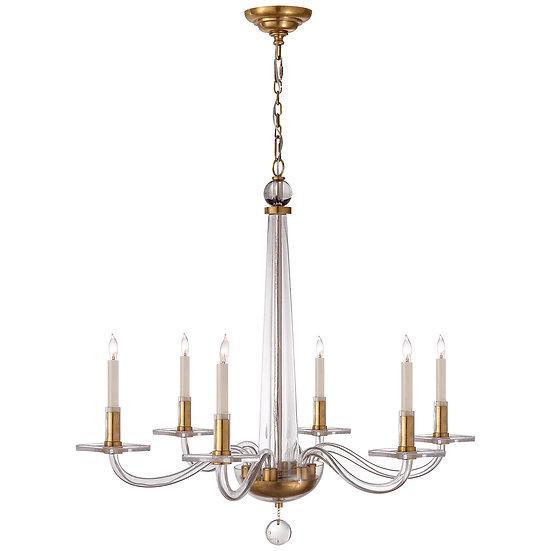 Robinson Chandelier in Antique-Burnished Brass
