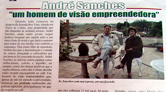 "Mr. André Sanches and his wife Maria highleighted in a local news: ""a man of an enterprising vision"""