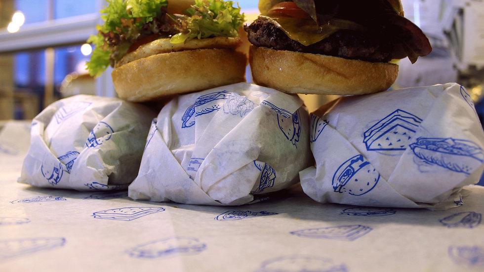Warme gebratene Mini Burger Pakete