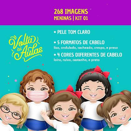 Kit 01 - Meninas - Pele Clara - 268 imagens
