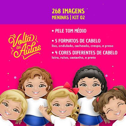 Kit 02 - Meninas - Pele Média - 268 imagens