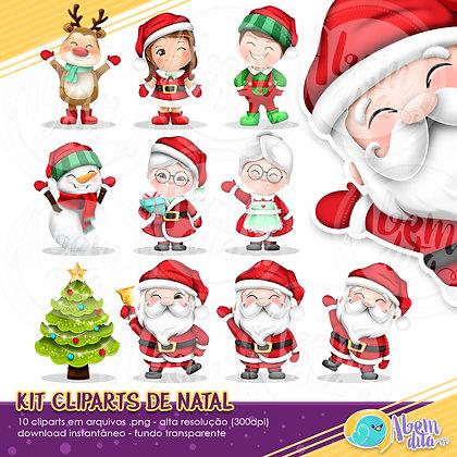 Natal - Kit Digital com 10 Cliparts