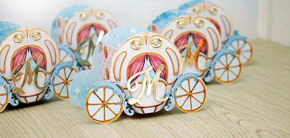 Caixa Carruagem - Cinderella - 20 unidades