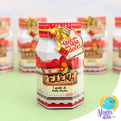 Caixa Pote de Geléia - Frutaria - 20 unidades