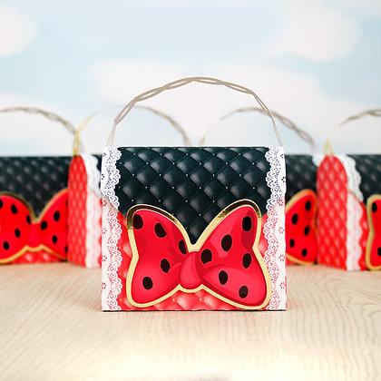Caixa Bolsa - Minnie Vermelha - 20 unidades