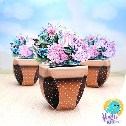 Caixa Vasinho - Floral - 20 unidades
