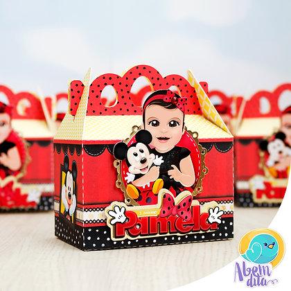 Caixa Maletinha - Minnie Vermelha - 20 unidades