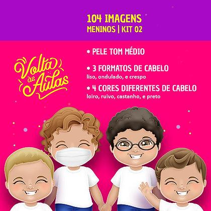 Kit 02 - Meninos - Pele Média - 104 imagens