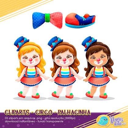 Circo - Palhacinhas - Kit Digital com Cliparts