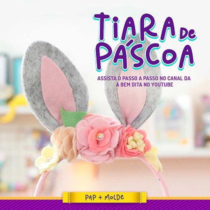 Molde para Tiara de Coelho em Feltro - Download Gratuito