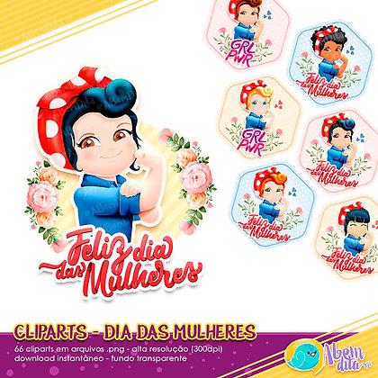 Dia da Mulher da A Bem Dita - Kit Digital com Cliparts