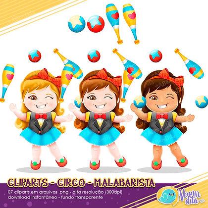 Circo - Malabaristas - Kit Digital com Cliparts