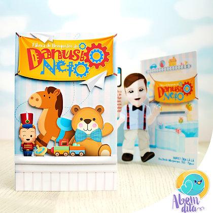 Convite - Fábrica de Brinquedos - 20 unidades