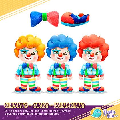 Circo - Palhacinhos - Kit Digital com Cliparts