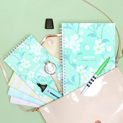 Kit Caderno Bright, Bloco e trio de brochuras