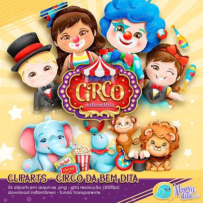 Circo da A Bem Dita - Kit Digital com Cliparts